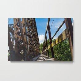 Footbridge over the railway bridge Metal Print