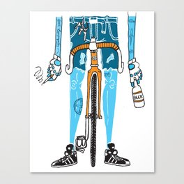 Modern Cyclist #2 Canvas Print