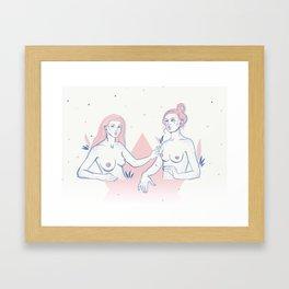 Girls & Nipples Framed Art Print