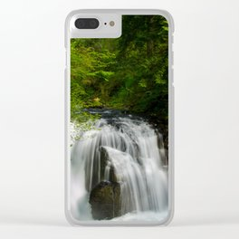 Scenic Waterfall in a Forest Clear iPhone Case