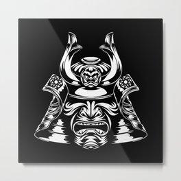 Samurai Mask Metal Print