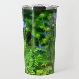 Lavender Blue Flowers Travel Mug