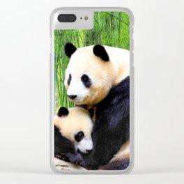 Panda-love Clear iPhone Case