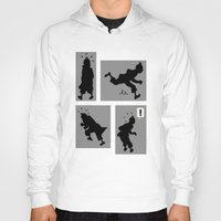 tintin Hoodies featuring Tintin, Silhouetted by Faellen