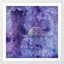 Stormy Goldfish Art Print
