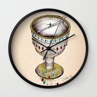 faith Wall Clocks featuring FAITH by Dianah B