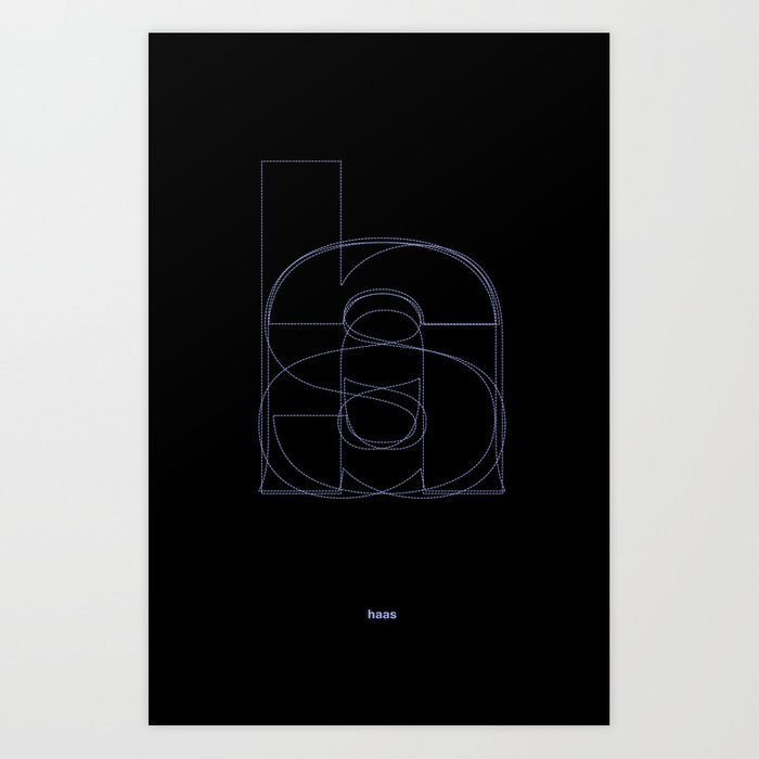 Die Neue Haas Grotesk (B-02) Art Print by jeiji
