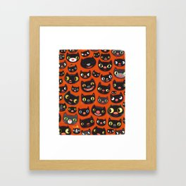 Happy Halloween Cats! Framed Art Print
