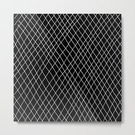 Fishnet Night Metal Print
