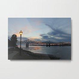Natchez Bridge At Sunset Metal Print