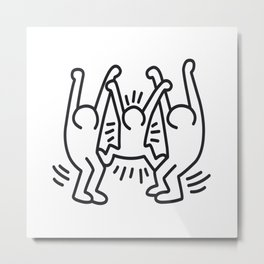 Family homage to Keith Haring Metal Print