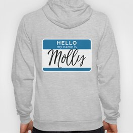 Molly Personalized Name Tag Woman Girl First Last Name Birthday Hoody