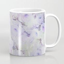Vintage lavender gray botanical roses floral Coffee Mug