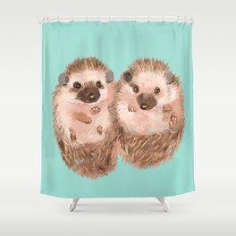 Twin Hedgehogs Shower Curtain