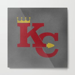 Kansas City Sports Red Metal Print