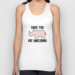 Save The Fat Unicorns Unisex Tank Top