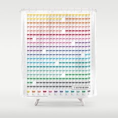 Calendar 2014 Shower Curtain