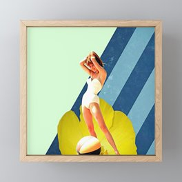 Summer Blossom Collage Framed Mini Art Print