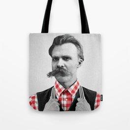 Hipster Nietzsche Tote Bag