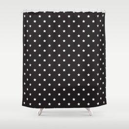 Pattern Etoiles Blanc/Noir Shower Curtain