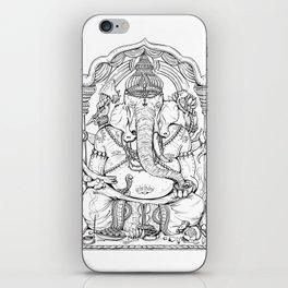 Ganesha Lineart iPhone Skin