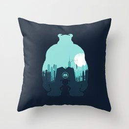 Welcome To Monsters, Inc. Throw Pillow