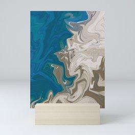 Liquid Marble, Wavy Beach Colours Mini Art Print