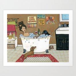 Wieners in the Tub Art Print