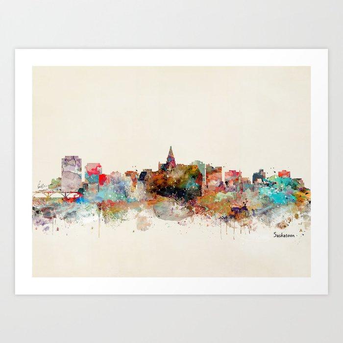 saskatoon canada skyline Art Print