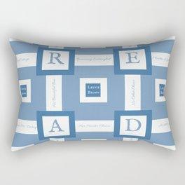 Read A Leenie B Book (blue) Rectangular Pillow