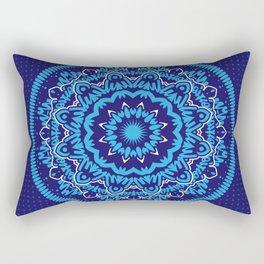 Mandala 010 Blue Mix Rectangular Pillow