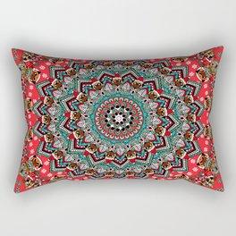 Mandala Christmas Pug Rectangular Pillow