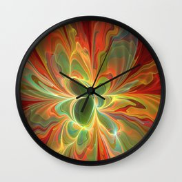 With a lot of Red, Abstract Art Wall Clock