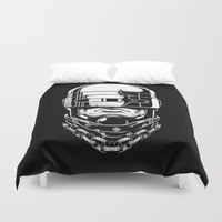 robocop Duvet Covers featuring Hey, Robocop! by OneAppleInBox