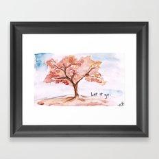 Let it go.  Framed Art Print