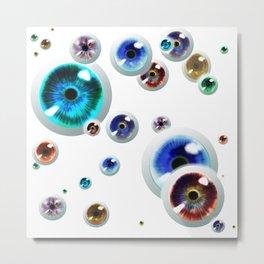 Space Socket Eyes 01 Metal Print