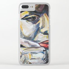 Nina,... More and then Some... Clear iPhone Case