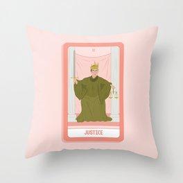 Tarot Card XI: (Supreme Court) Justice Throw Pillow