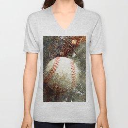 Contemporary Baseball Art Unisex V-Neck