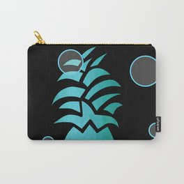 Tropical Blue And Black Carry-All Pouch