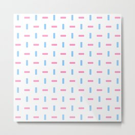 four lines 44 blue and pink Metal Print