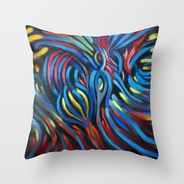 Abstract #3 Multicolor Throw Pillow