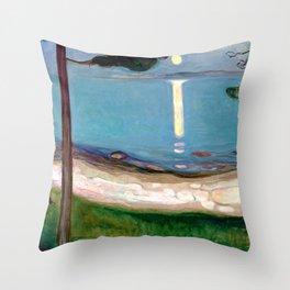 Edvard Munch - Moonlight Throw Pillow