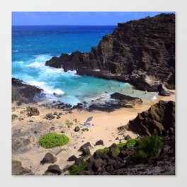 "Forbidden, ""NO TRESPASSING"" Beach in Oahu, Hawaii Canvas Print"