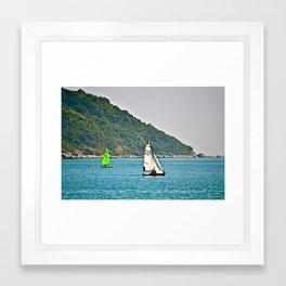 Sailboats (Stanley, Hong Kong)  Framed Art Print