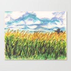 Lonely Scarecrow Canvas Print