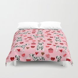 Dalmatian valentines day cupcakes and hearts love dog breeds dog lovers valentine Duvet Cover