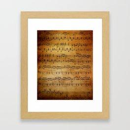 Yesterday's Music Framed Art Print