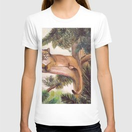 COUGAR IN A PINE T-shirt