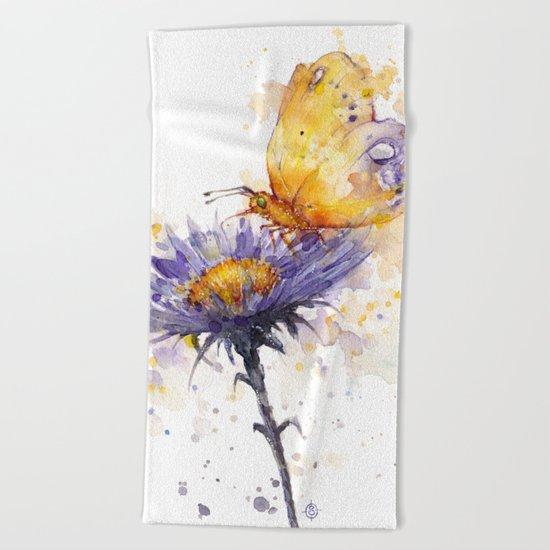 Flowers & Flutters Beach Towel